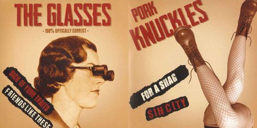 The Glasses / Pork Knuckles - Split [EP][schwarz]